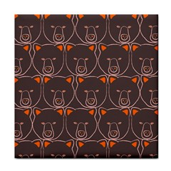 Bears Pattern Face Towel by Nexatart