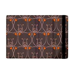 Bears Pattern Apple Ipad Mini Flip Case by Nexatart