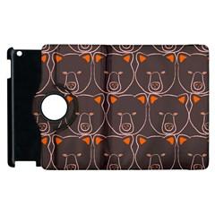 Bears Pattern Apple Ipad 3/4 Flip 360 Case by Nexatart
