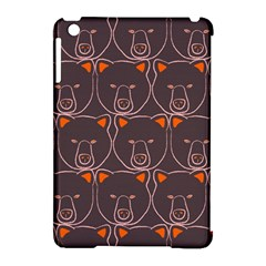 Bears Pattern Apple Ipad Mini Hardshell Case (compatible With Smart Cover)