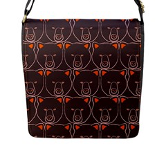 Bears Pattern Flap Messenger Bag (l)