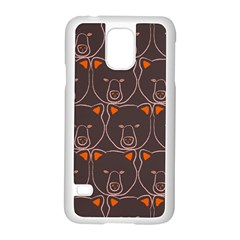 Bears Pattern Samsung Galaxy S5 Case (white)