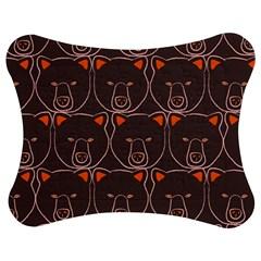 Bears Pattern Jigsaw Puzzle Photo Stand (bow) by Nexatart