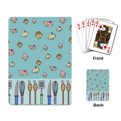 Kawaii Kitchen Border Playing Card by Nexatart