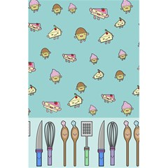 Kawaii Kitchen Border 5 5  X 8 5  Notebooks by Nexatart