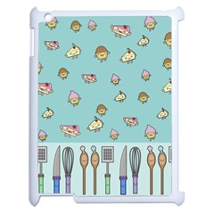 Kawaii Kitchen Border Apple Ipad 2 Case (white) by Nexatart