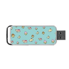 Kawaii Kitchen Border Portable Usb Flash (one Side) by Nexatart