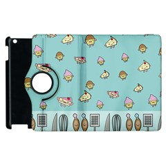 Kawaii Kitchen Border Apple Ipad 2 Flip 360 Case by Nexatart