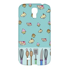 Kawaii Kitchen Border Samsung Galaxy S4 I9500/i9505 Hardshell Case by Nexatart