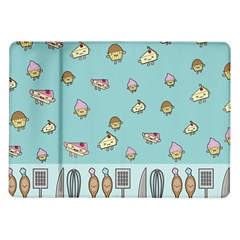 Kawaii Kitchen Border Samsung Galaxy Tab 10 1  P7500 Flip Case