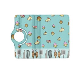 Kawaii Kitchen Border Kindle Fire Hd (2013) Flip 360 Case by Nexatart