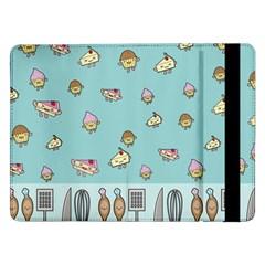 Kawaii Kitchen Border Samsung Galaxy Tab Pro 12 2  Flip Case