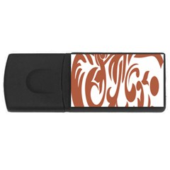 Sign Red Polka Usb Flash Drive Rectangular (4 Gb) by Mariart