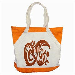 Sign Red Polka Accent Tote Bag by Mariart