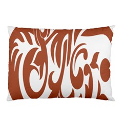 Sign Red Polka Pillow Case by Mariart