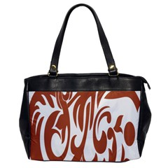 Sign Red Polka Office Handbags by Mariart