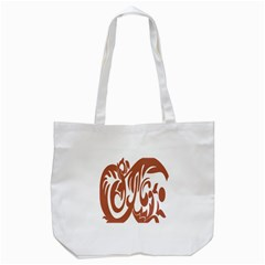 Sign Red Polka Tote Bag (white) by Mariart