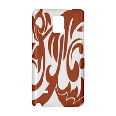 Sign Red Polka Samsung Galaxy Note 4 Hardshell Case by Mariart
