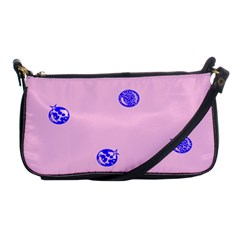 Star Space Balloon Moon Blue Pink Circle Round Polkadot Shoulder Clutch Bags by Mariart