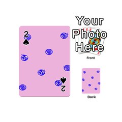 Star Space Balloon Moon Blue Pink Circle Round Polkadot Playing Cards 54 (mini)  by Mariart