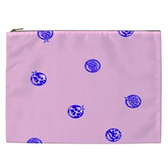 Star Space Balloon Moon Blue Pink Circle Round Polkadot Cosmetic Bag (xxl)  by Mariart