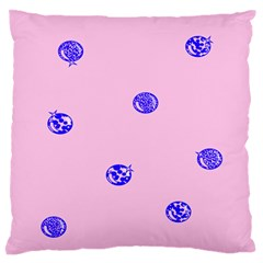 Star Space Balloon Moon Blue Pink Circle Round Polkadot Large Flano Cushion Case (one Side) by Mariart