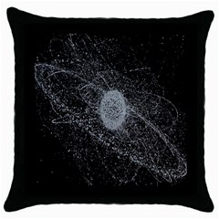 Space X Circle Line Black Throw Pillow Case (black) by Mariart