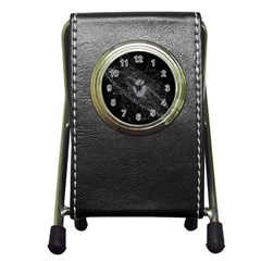 Space X Circle Line Black Pen Holder Desk Clocks by Mariart