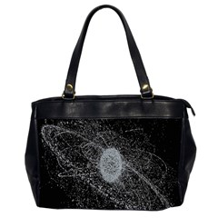 Space X Circle Line Black Office Handbags (2 Sides)  by Mariart