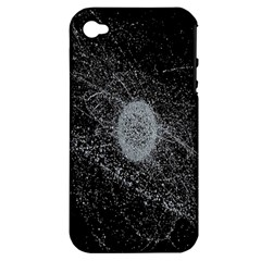 Space X Circle Line Black Apple Iphone 4/4s Hardshell Case (pc+silicone) by Mariart