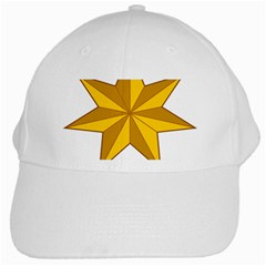 Star Yellow Blue White Cap by Mariart