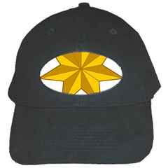 Star Yellow Blue Black Cap by Mariart