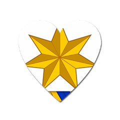 Star Yellow Blue Heart Magnet by Mariart