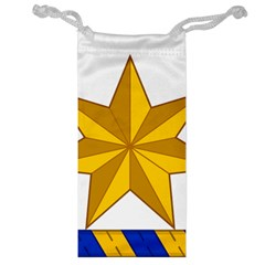 Star Yellow Blue Jewelry Bag by Mariart