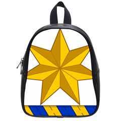 Star Yellow Blue School Bags (small)  by Mariart