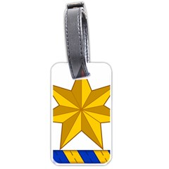 Star Yellow Blue Luggage Tags (two Sides) by Mariart