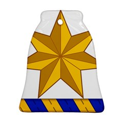 Star Yellow Blue Ornament (bell) by Mariart