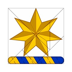 Star Yellow Blue Acrylic Tangram Puzzle (6  X 6 ) by Mariart