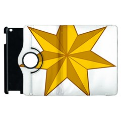 Star Yellow Blue Apple Ipad 2 Flip 360 Case by Mariart