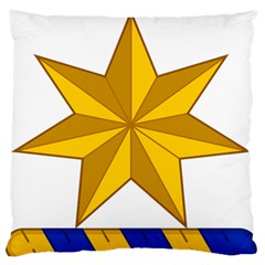 Star Yellow Blue Large Flano Cushion Case (one Side) by Mariart