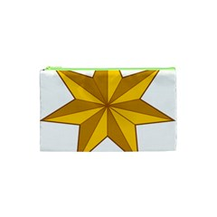 Star Yellow Blue Cosmetic Bag (xs) by Mariart
