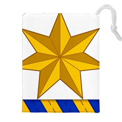 Star Yellow Blue Drawstring Pouches (xxl) by Mariart