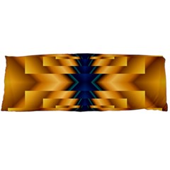Plaid Blue Gold Wave Chevron Body Pillow Case Dakimakura (two Sides) by Mariart