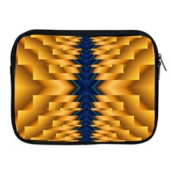 Plaid Blue Gold Wave Chevron Apple Ipad 2/3/4 Zipper Cases by Mariart