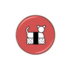 Sushi Cat Japanese Food Hat Clip Ball Marker (4 Pack) by Mariart
