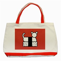 Sushi Cat Japanese Food Classic Tote Bag (red) by Mariart