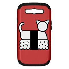 Sushi Cat Japanese Food Samsung Galaxy S Iii Hardshell Case (pc+silicone) by Mariart