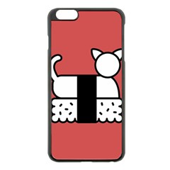 Sushi Cat Japanese Food Apple Iphone 6 Plus/6s Plus Black Enamel Case by Mariart