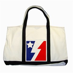 Three Colors Blue White Line Star Two Tone Tote Bag by Mariart