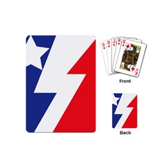 Three Colors Blue White Line Star Playing Cards (mini)  by Mariart